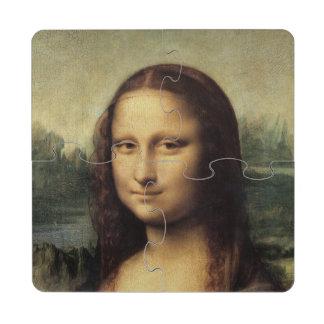Mona Lisa detalladamente por Leonardo da Vinci Posavasos De Puzzle