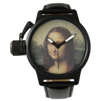 Mona Lisa detalladamente por Leonardo da Vinci Reloj