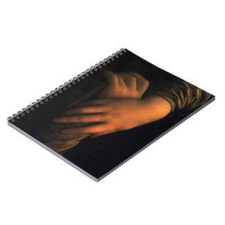 Mona Lisa - diario de las manos Libreta Espiral
