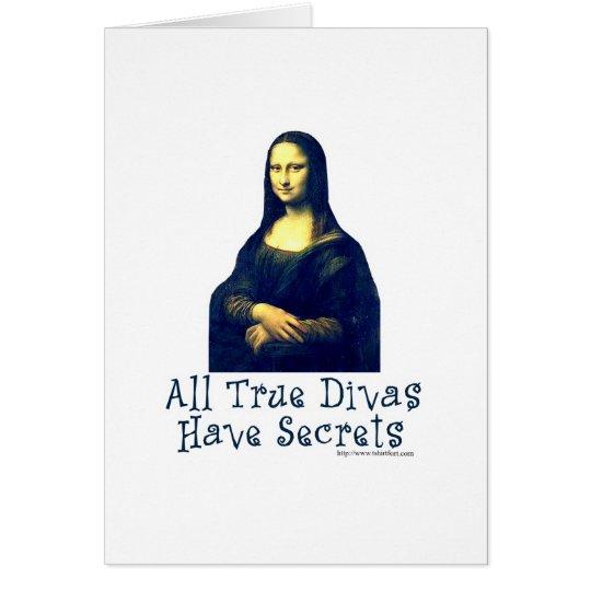 Mona Lisa Diva Secrets Card