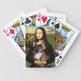 Mona Lisa - dogo francés Brindle Baraja Cartas De Poker