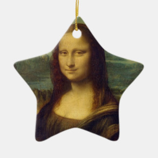 Mona Lisa Double-Sided Star Ceramic Christmas Ornament