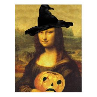 Mona Lisa durante renacimiento en postal del traje