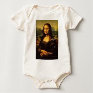Mona Lisa EFT baby  Hypnosis Gifts Baby Bodysuit