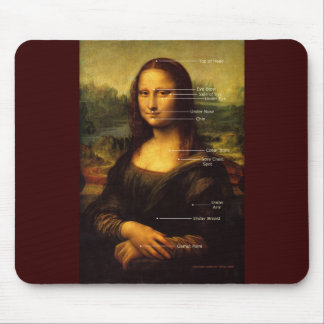 Mona Lisa EFT points Mousepad Hypnosis Gifts