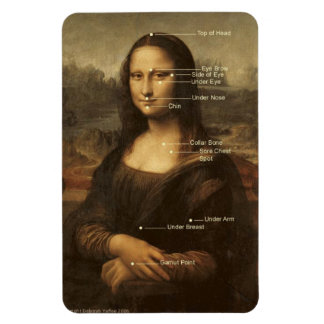 """Mona Lisa EFT Tapping Points 4""""x6"""" flexible magnet"""