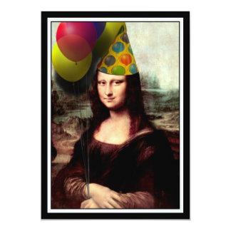 """Mona Lisa - el chica del cumpleaños Invitación 5"""" X 7"""""""