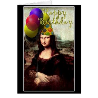 Mona Lisa - el chica del cumpleaños Tarjeta De Felicitación