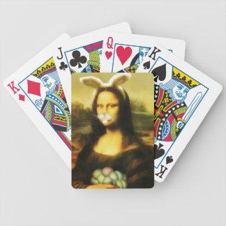 Mona Lisa, el conejito de pascua Baraja Cartas De Poker