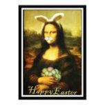 """Mona Lisa, el conejito de pascua Invitación 5"""" X 7"""""""