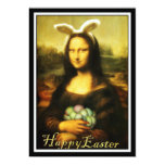 Mona Lisa, el conejito de pascua Invitacion Personalizada