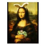 Mona Lisa, el conejito de pascua Postal