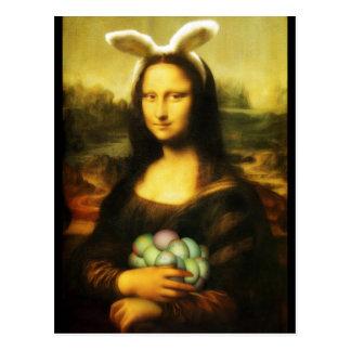 Mona Lisa, el conejito de pascua Postales