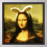 Mona Lisa el conejito de pascua Poster