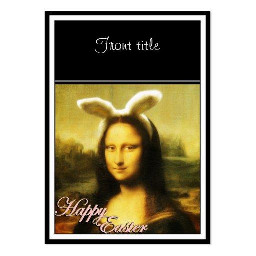 Mona Lisa, el conejito de pascua Tarjetas De Visita Grandes