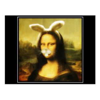 Mona Lisa, el conejito de pascua Tarjetas Postales
