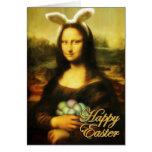 Mona Lisa, el conejito de pascua Tarjeton