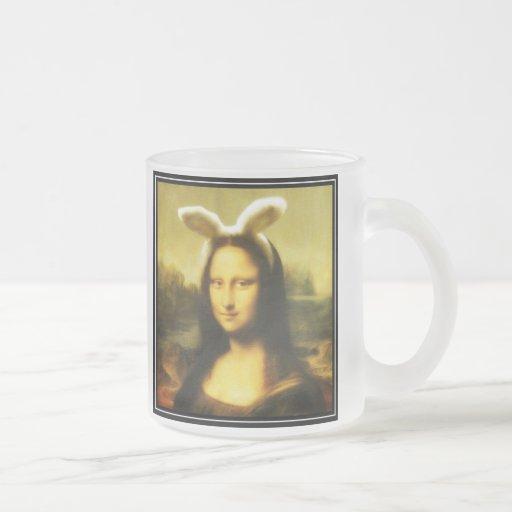 Mona Lisa el conejito de pascua Taza De Café