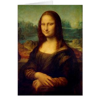 Mona Lisa el   Leonardo da Vinci Tarjeta Pequeña