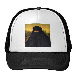 Mona Lisa en Burqa Gorras De Camionero
