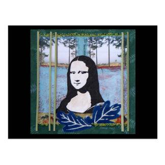 Mona Lisa en el país Tarjetas Postales