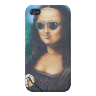 Mona Lisa en gafas de sol iPhone 4 Carcasas