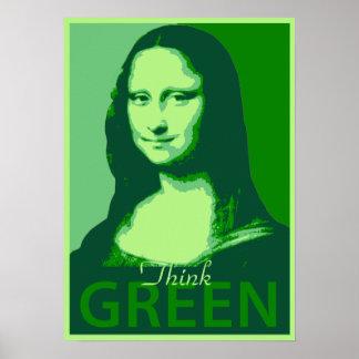 Mona Lisa es verde Póster