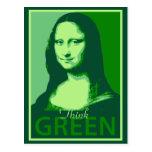 Mona Lisa es verde Tarjetas Postales