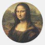 Mona Lisa Etiquetas Redondas