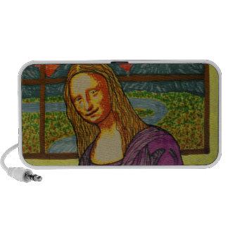 Mona Lisa expectante Altavoces De Viajar