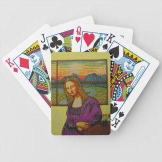 Mona Lisa expectante Baraja De Cartas