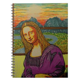 Mona Lisa expectante Libretas Espirales