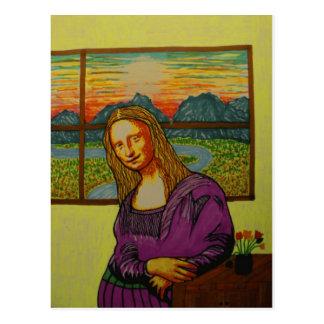 Mona Lisa expectante Postales