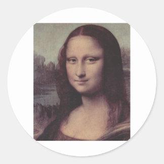 Mona Lisa Face Classic Round Sticker