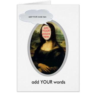 Mona Lisa facesinholes card