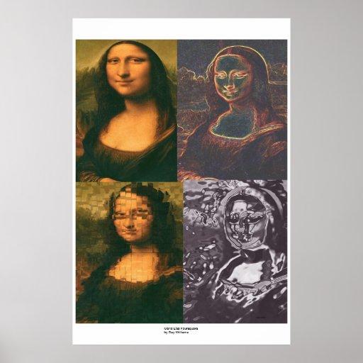 Mona Lisa Foursquare Posters