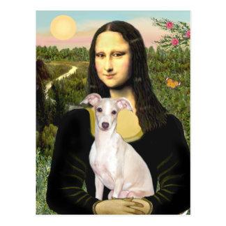 Mona Lisa - galgo italiano 5 Postal