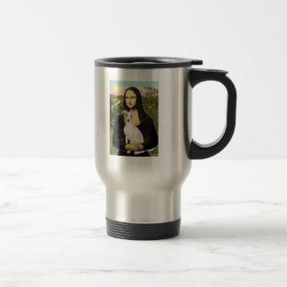 Mona Lisa - galgo italiano 5 Taza De Viaje