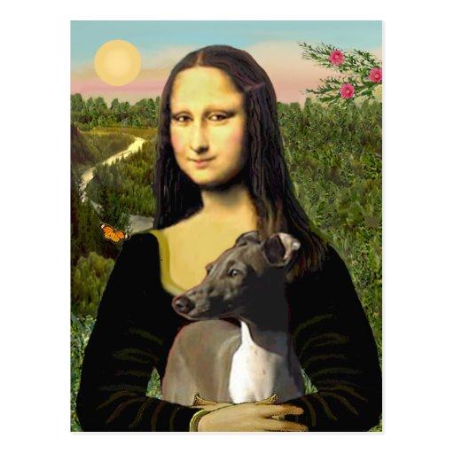 Mona Lisa - galgo italiano Postales