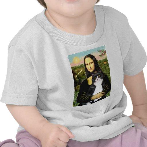 Mona Lisa - gato blanco y negro SH de la Camisetas