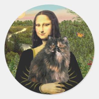 Mona Lisa - gato de calicó persa Pegatinas