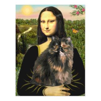 Mona Lisa - gato de calicó persa Postal