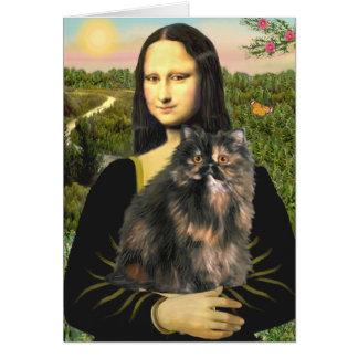 Mona Lisa - gato de calicó persa Tarjetas