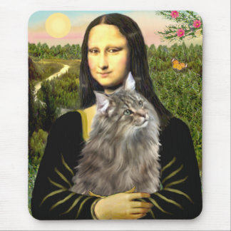 Mona Lisa - gato del bosque de Norweigan Alfombrillas De Ratón