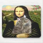 Mona Lisa - gato del bosque de Norweigan Alfombrilla De Ratón