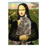 Mona Lisa - gato del bosque de Norweigan Felicitaciones