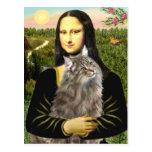 Mona Lisa - gato del bosque de Norweigan Tarjetas Postales