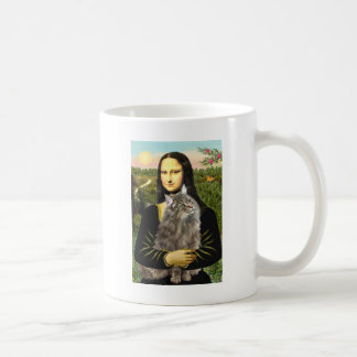 Mona Lisa - gato del bosque de Norweigan Taza