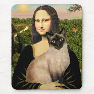 Mona Lisa - gato siamés del punto del sello Alfombrillas De Ratones