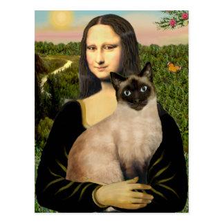 Mona Lisa - gato siamés del punto del sello Postales